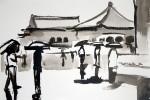 Figures in the Rain Forbidden City