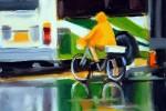 Yellow Cycling Cape