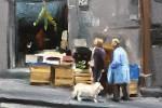 Naples:Shopkeeper, Customer and Dog