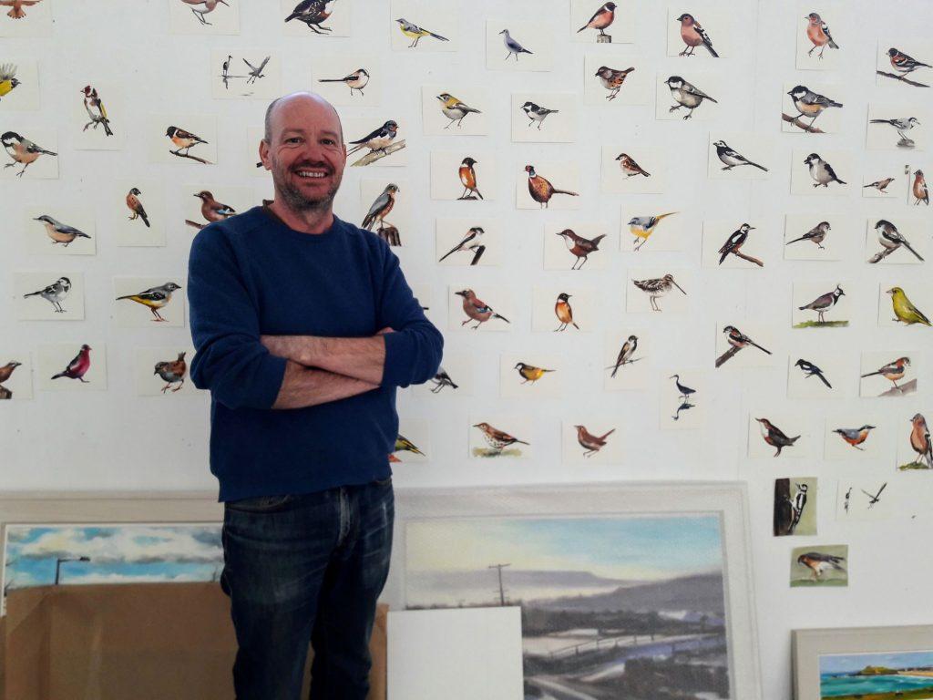 Studio with birds